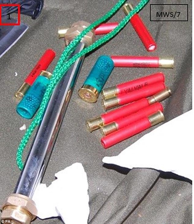 They had a terrifying arsenal of weapons which were to be used in an attack