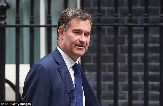 Work and Pensions Secretary David Gauke, pictured heading into No10 for a Cabinet meeting last month, said it is right that people on state hand out make the same tough decisions as those in work
