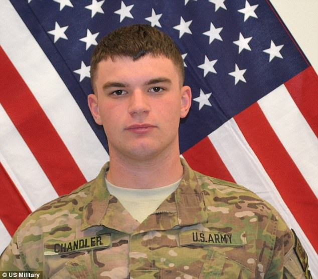 Prosecutors haven't identified the soldiers who were attacked, but US service newspaper Stars and Stripes reports the only U.S. service member killed during that time in Logar province was Pfc. Christian Chandler (pictured)