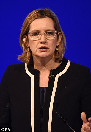 Pictured: Home Secretary Amber Rudd, who is a target of the group