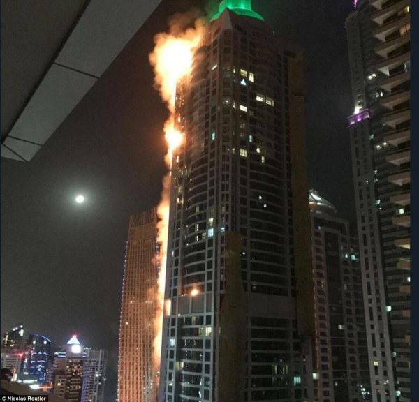 Dubai' Torch Tower Bursts Flames In Echo Of Grenfell