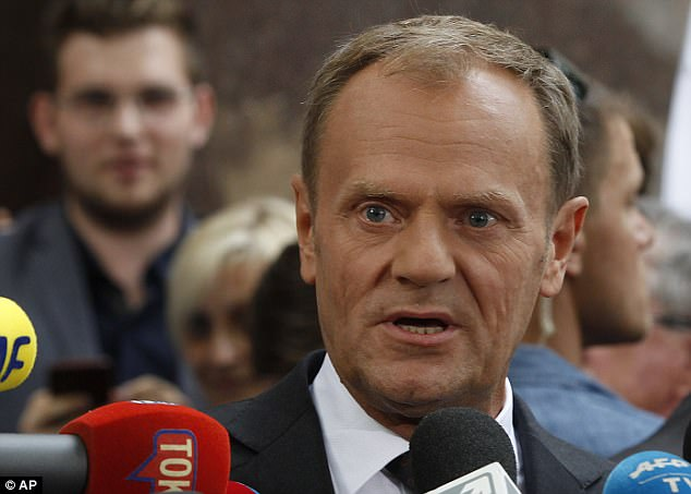 Donald Tusk has said Poland's future inside the European Union is 'uncertain' amid a deepening row withJaroslaw Kaczynski, leader of the country's ruling conservative party