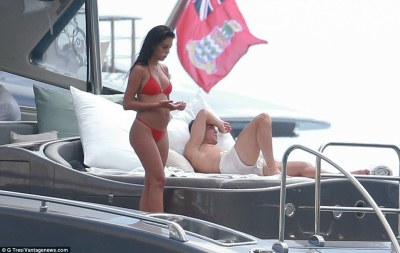 According to Sport , the yacht is costing the wealthy 32-year-old £40,000 per week to hire