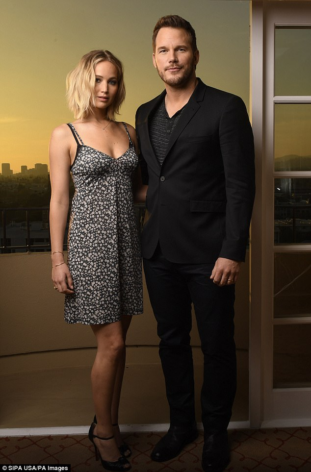 Stuck in the middle:Jennifer Lawrence has found herself in the center of Chris Pratt's shock split from wife Anna Faris after eight years of marriage