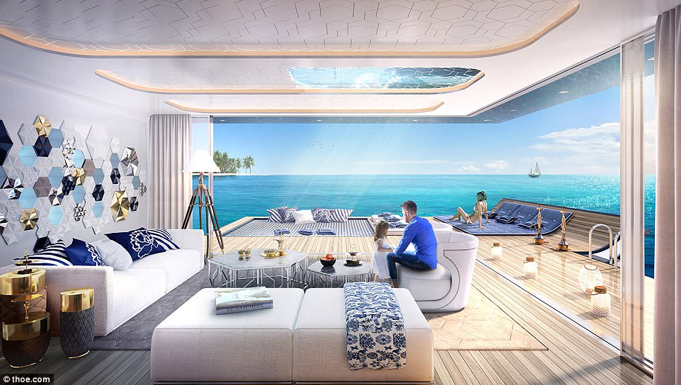 Nearly there: The Floating Seahorse project is estimated to be completed in 2018, with more than 125 floating villas