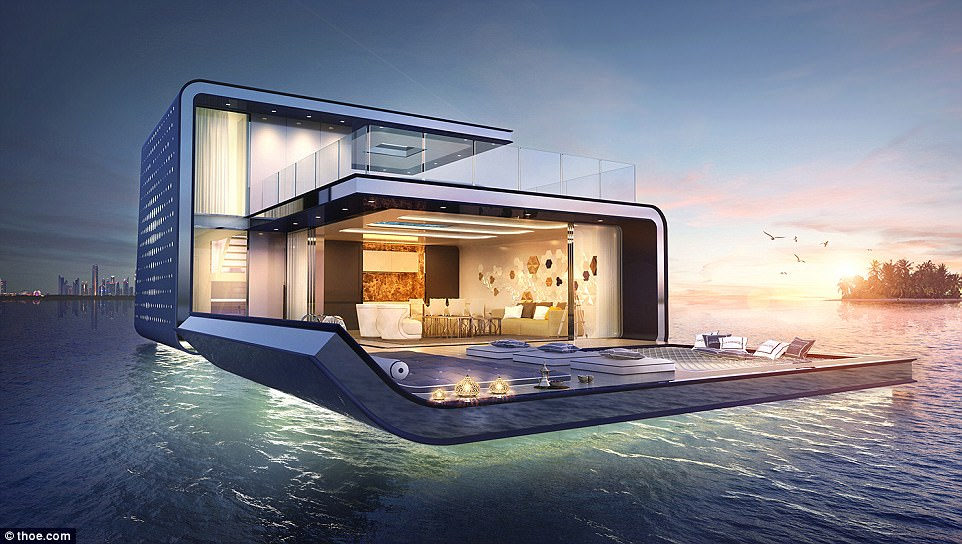 Big bucks: A brand new (yet to be built) four bedroomFloating Seahorse Signature Edition will cost an estimated £2.53m