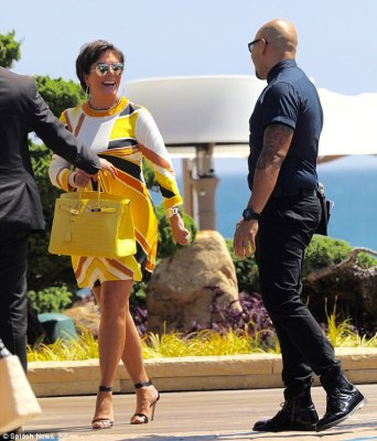 A lot to smile about:Kris Jenner stepped out for a solo dinner in Los Angeles on Tuesday