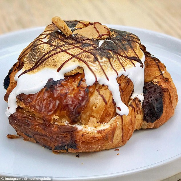 Dessert for breakfast:Mixed Company in Angelino Heights, California sells a s'mores croissant