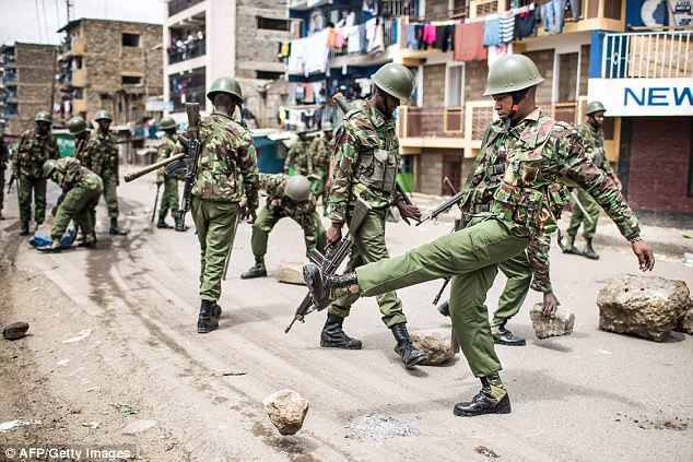 Protesters reacted quickly and angrily to the news that Odinga had lost, and there are reports of gunshots