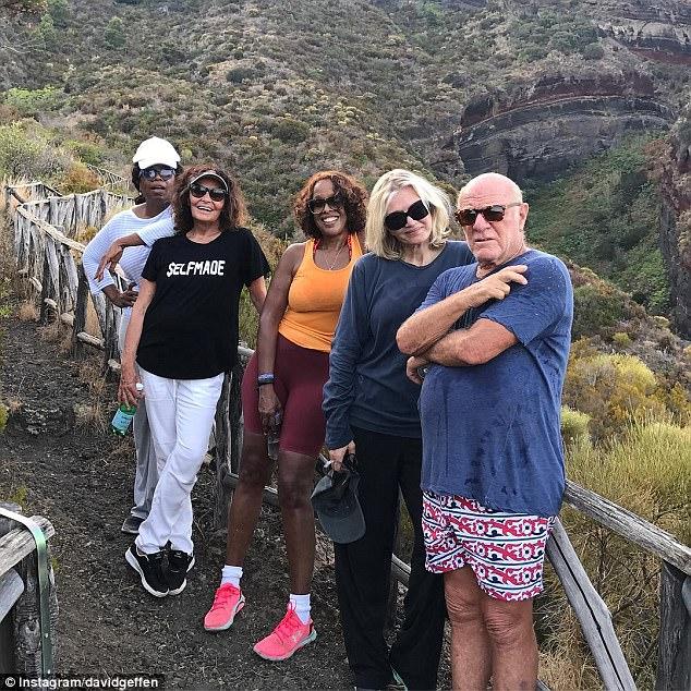 Oprah Gayle King Diane Sawyer On David Geffens Yacht
