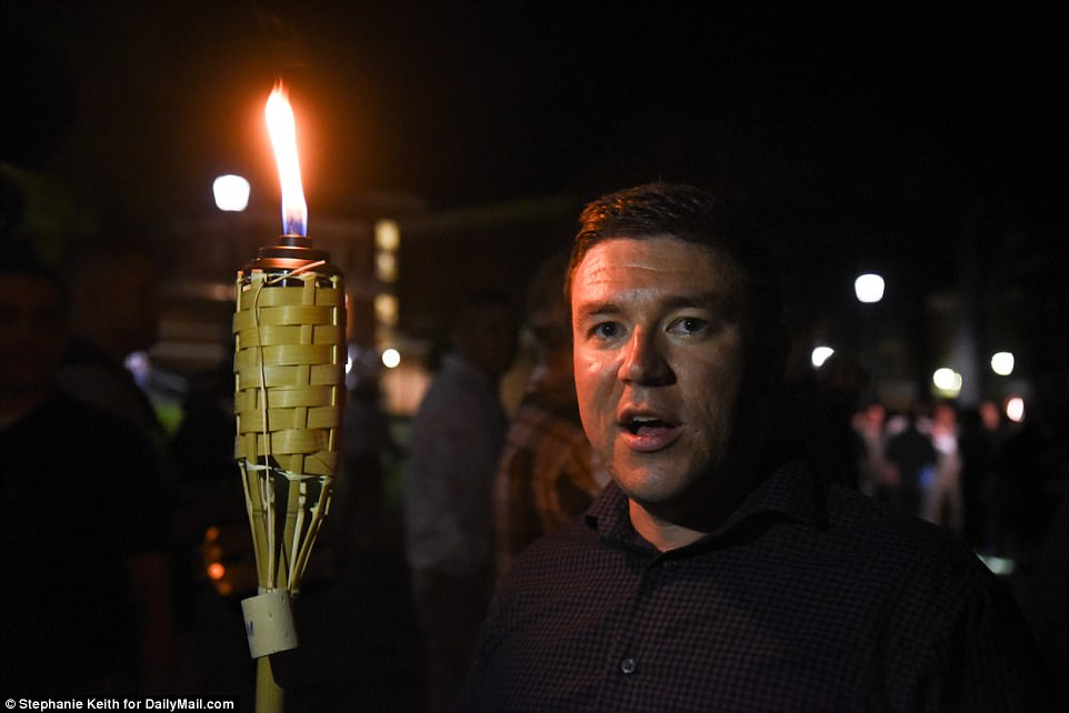 Kessler, who also organized the Saturday's rally, was among the white activists and held up a tikki style torch during the march