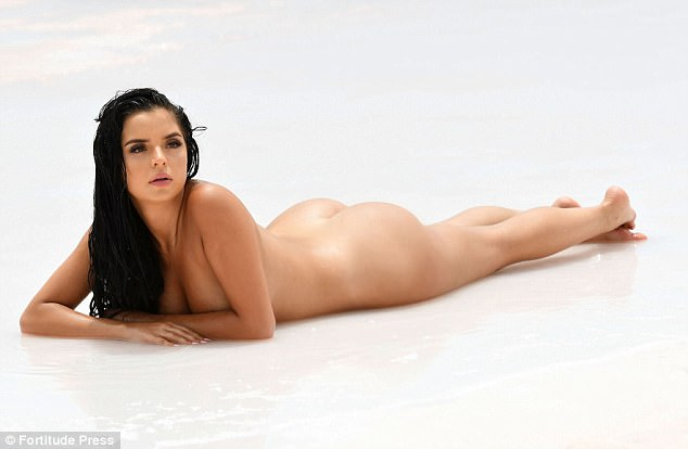 Sexy: Demi oozed body confidence in the striking sultry snaps where she sported wet locks and dramatic smokey eyes