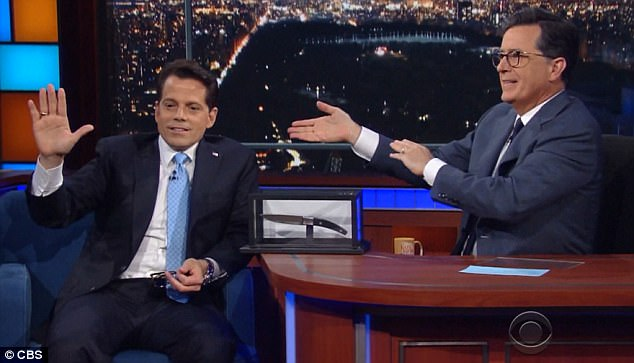 During an appearance on CBS' Late Show with Stephen Colbert, former White House communications director Anthony Scaramucci said Bannon should get his walking papers