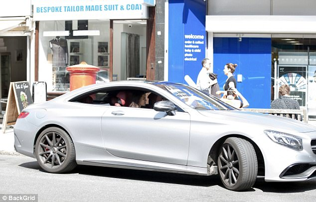 Arsenal star Ozil drove himself and Gulse to the London restaurant in his luxury Mercedes
