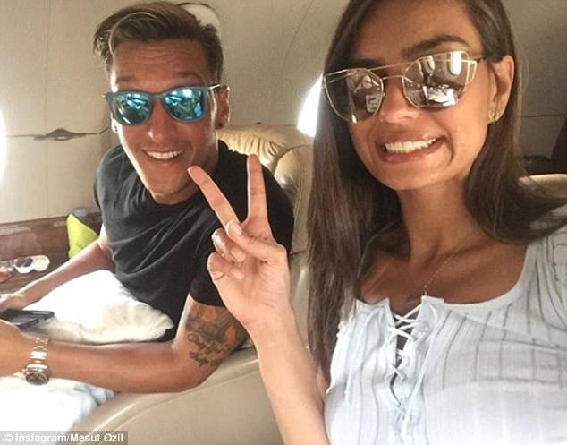 They each documented their summer break on Instagram, where Ozil has 13.5million followers