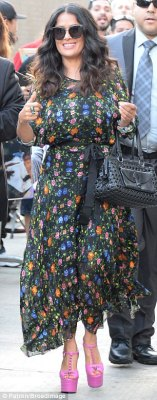 Smelling of roses: The Latina lovely had scored another fashion home run with her floral gown