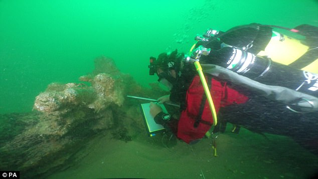 Originally destined for Batavia — modern-day Jakarta — the merchant ship Rooswijk sank around 5 miles (8 kilometres) off of the British coast on its second voyage to the East, with none of its 237-strong crew surviving the accident. Pictured, a diver explores the wreck