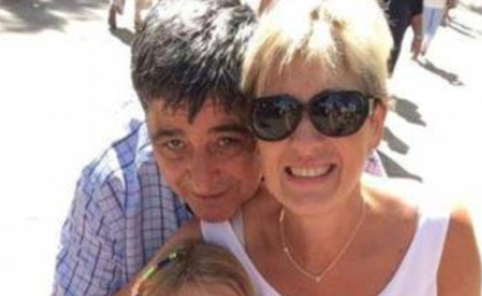 Spanish authorities say 57-year-old Francisco Lopez Rodriguez (pictured on Las Ramblas moments before the attack) died on the spot after being hit by ISIS terrorists. He was earlier reported as missing
