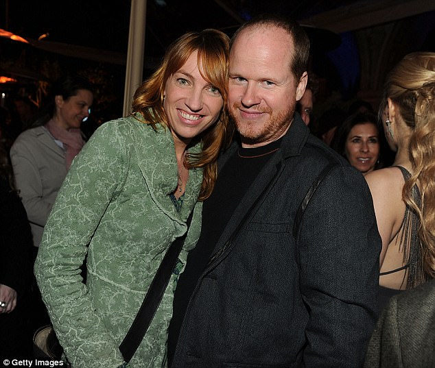 Happier times: Architect and producer Cole claims that Whedon cheated on her multiple times through their 16 year marriage in her piece for The Wrap; (pictured 2010)