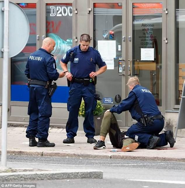 Two women were killed and six people were injured in the knife attack on Friday in Turku