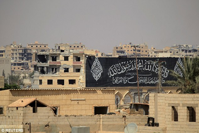 ISIS have been in control of Raqqa in Northern Syria (pictured on Saturday) for several years but has lost 70 per cent of the territory it once held