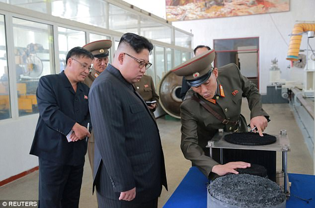 This is how:LKim was riefed about the process of manufacturing intercontinental ballistic missile warhead tips