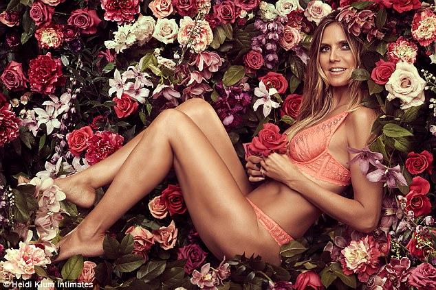 Down to her skivvies: Last week, Heidi Klum unveiled her namesake lingerie line's fall 2017 campaign shot by Francesco Carrozzini. Here, she models the Dreamtime set from her collection