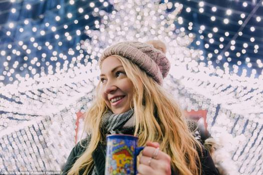 Ms Easterby regularly speaks about the fact that Instagram can make a travel blogger's life look 'idealistic' (pictured at Cologne Christmas Markets)