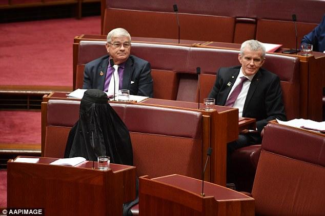 Gillian Triggs described Pauline Hanson's burqa-wearing stunt as a 'disgraceful performance'