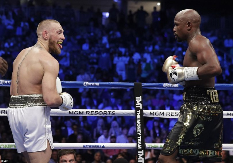Despite Mayweather dominating their showdown, McGregor still mocked his American opponent in the ring