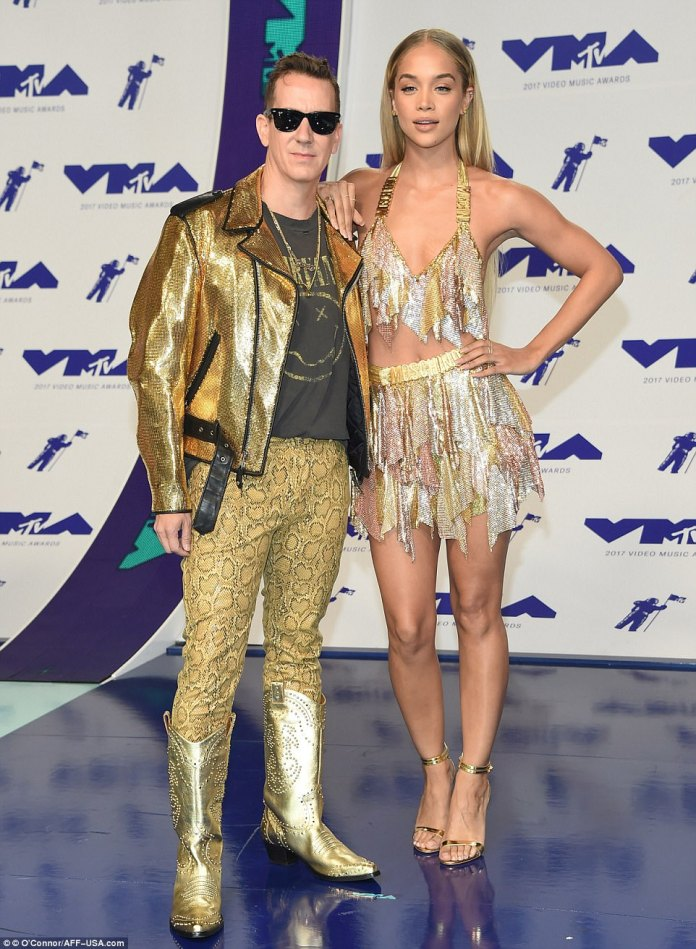 Golden: The fashion designer was joined by Jasmine Sanders
