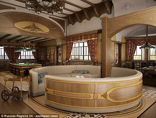Putin's sumptuous bolt-hole is part of a complex involving a restored tsarist mansion famous as being used in a Soviet movie about Sherlock Holmes
