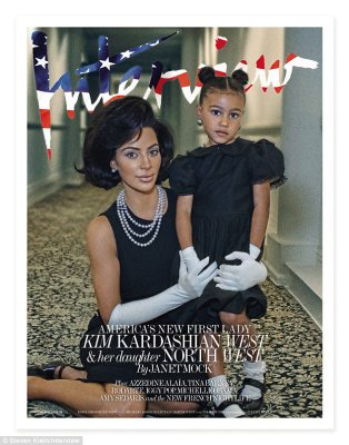 First Lady Kim?The new Interview magazine editorial, which was shot at The National Arts Club in New York City, features Kardashian as a powerful female ambassador