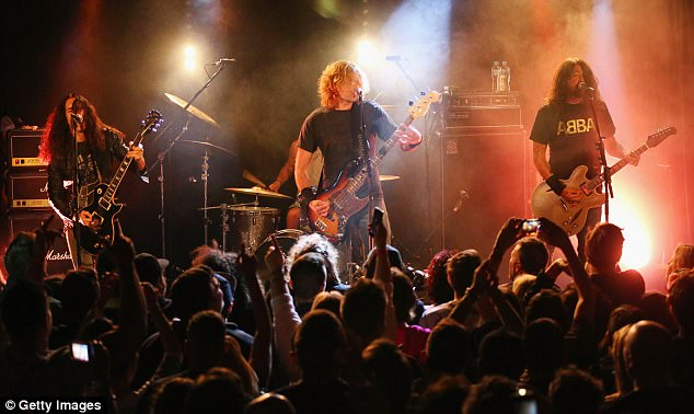 Surprise! It comes after Grohl, and drummer Taylor Hawkins, 45, along with his cover band Chevy Metal, played to 300 fans at the Oxford Art Factory last Tuesday