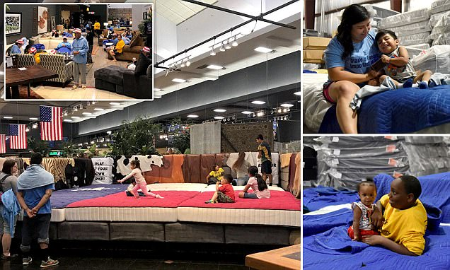 Mattress Store Turns Into Shelter For Hurricane Victims