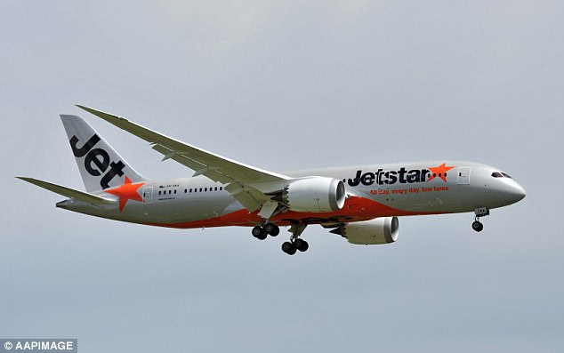 The Jetstar Boeing 787 (stock image) was forced to make an emergency landing in Singapore