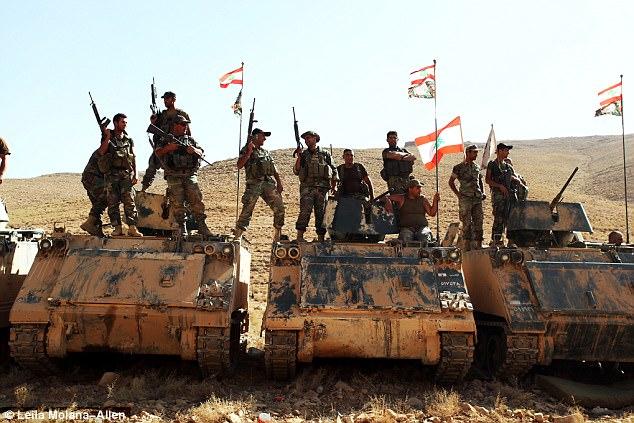 Fuerza: El ejército libanés tiene más de 3.000 efectivos actualmente desplegados en la zona