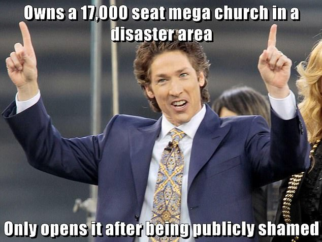 Houston Preacher Joel Osteen Lambasted In Twitter Memes