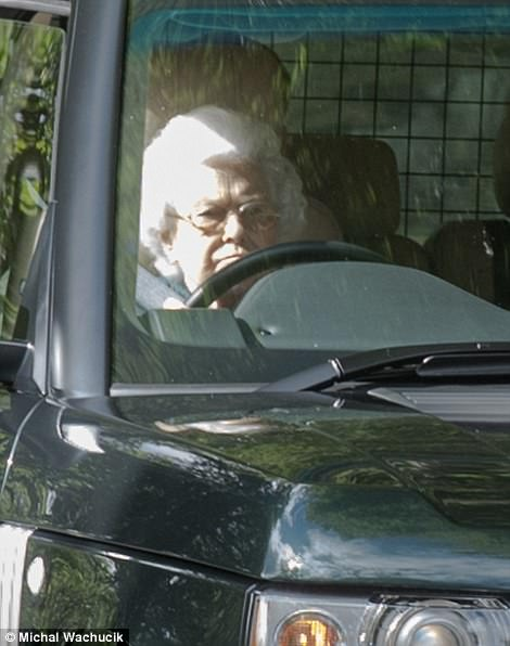 The Queen was seen leaving the Balmoral estate today