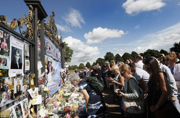 The flowers continued to pile up on Thursday afternoon as well-wishers left floral tributes, notes and photographs