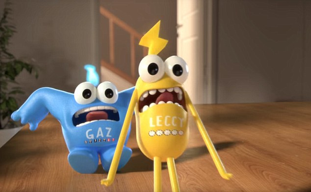 Power crazed: 'Gaz' and 'Leccy' appear in a series of TV ads for the meters