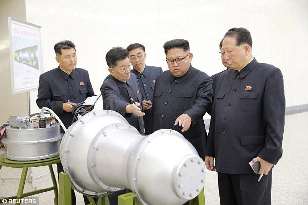 The earthquake came after North Korea claimed it had developed a more advanced nuclear weapon. Photos released on Sunday show the country's leader Kim Jong-un inspecting a hydrogen bomb