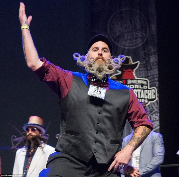 Competitors battled it out in a range of categories including mustache, partial and full-beards
