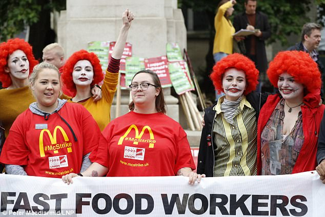 Image result for McDonald's strikes images