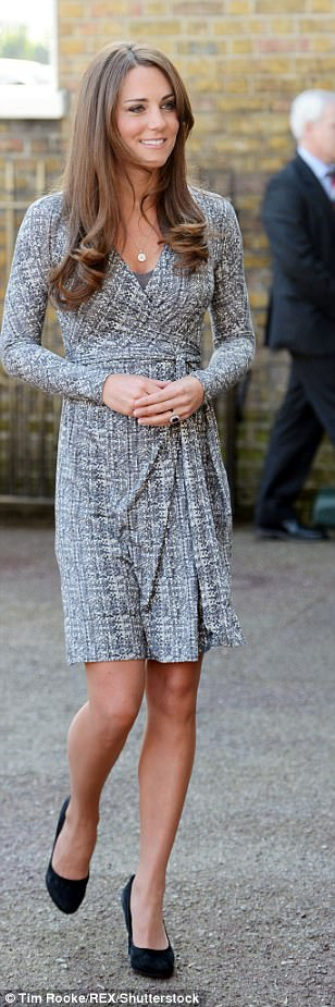 The Duchess opts for a Max Mara wrap dress