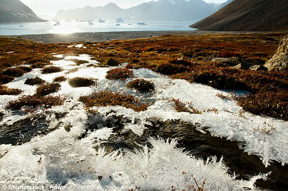 As permafrost melts and releases gases into the atmosphere which cause warming, permafrost melts even more, releasing more of these gases such as methane and CO2, leading a positive feedback loop that worsens climate change