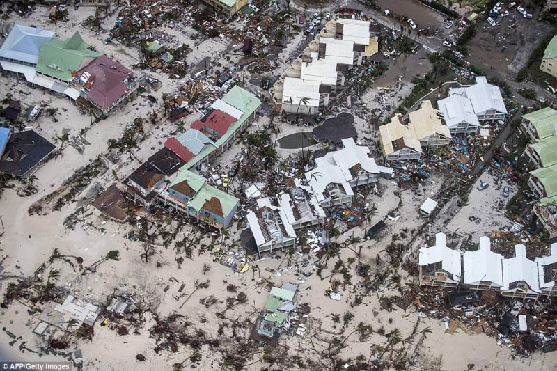 Luxury homes and hotels were destroyed, roads submerged in water and sturdy palm trees ripped out of the ground on the Dutch Caribbean island of Sint Marteen