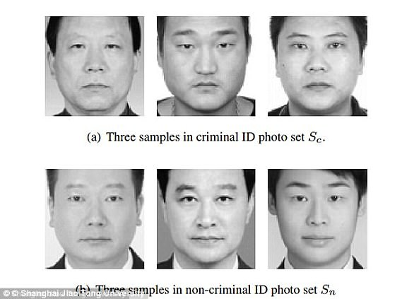 Last year, a controversial paper was released which investigated whether a computer could detect if a human could be a criminal, by analysing their facial features. The results suggest that people with smaller mouths, curvier upper lips and closer-set eyes (pictured top), are more likely to be criminals