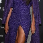 Ciara Dazzle In Purple at New York Fashion Week