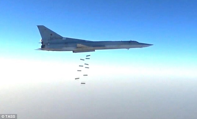 Pictured: A Russian bomber similar to one that would be used to drop the munition